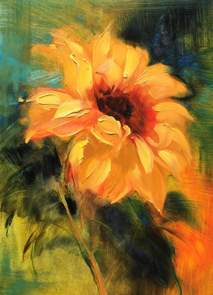 """Sunflower 2"" original fine art by Charlotte Fitzgerald"