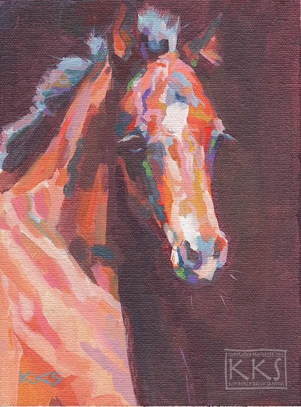 """Little One"" original fine art by Kimberly Santini"