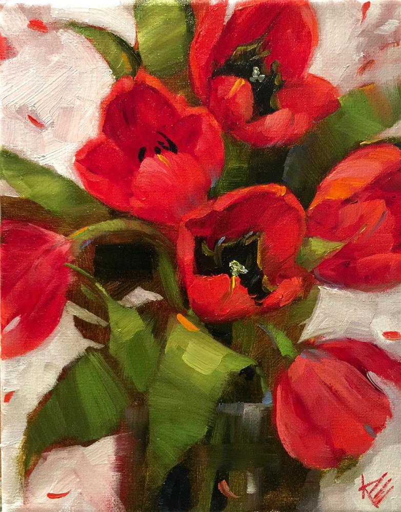 """A splash of red"" original fine art by Krista Eaton"