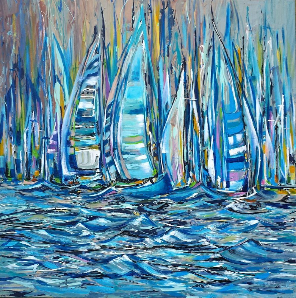 """Summer Sail"" original fine art by Khrystyna Kozyuk"