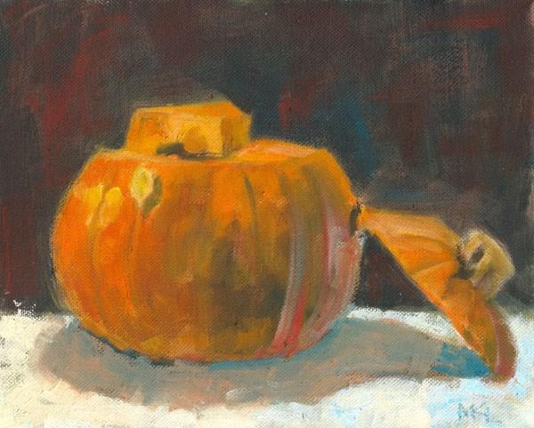 """Pumpkin Top Cut Off"" original fine art by Marlene Lee"