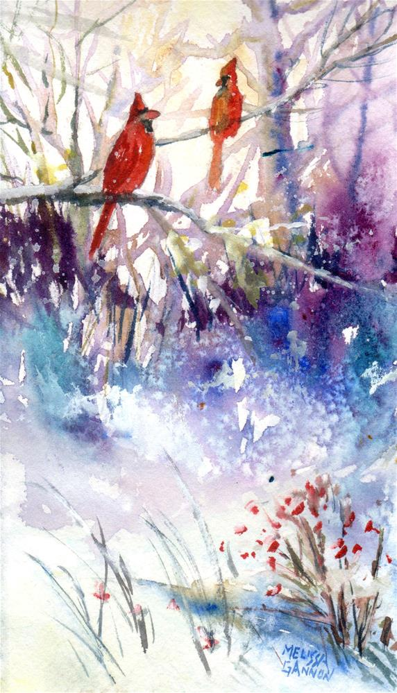 """Winter Joy"" original fine art by Melissa Gannon"