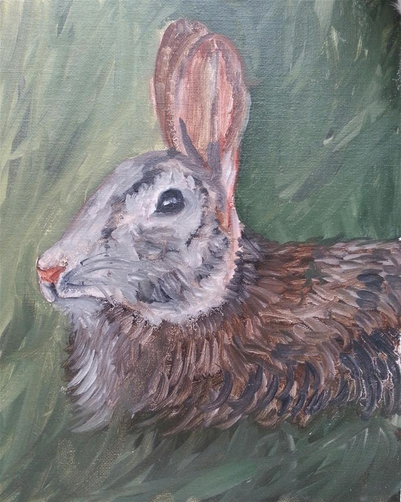 """Bunny Wabit"" original fine art by Phyllisha Hamrick"