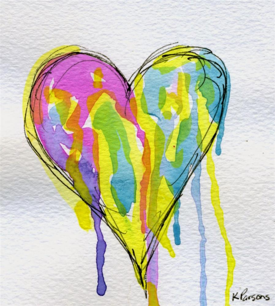 """""""Dripping with Love"""" original fine art by Kali Parsons"""