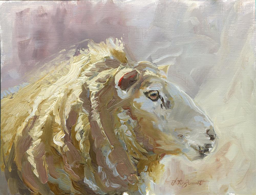 """""""Sheep"""" original fine art by B. Rex Stewart"""