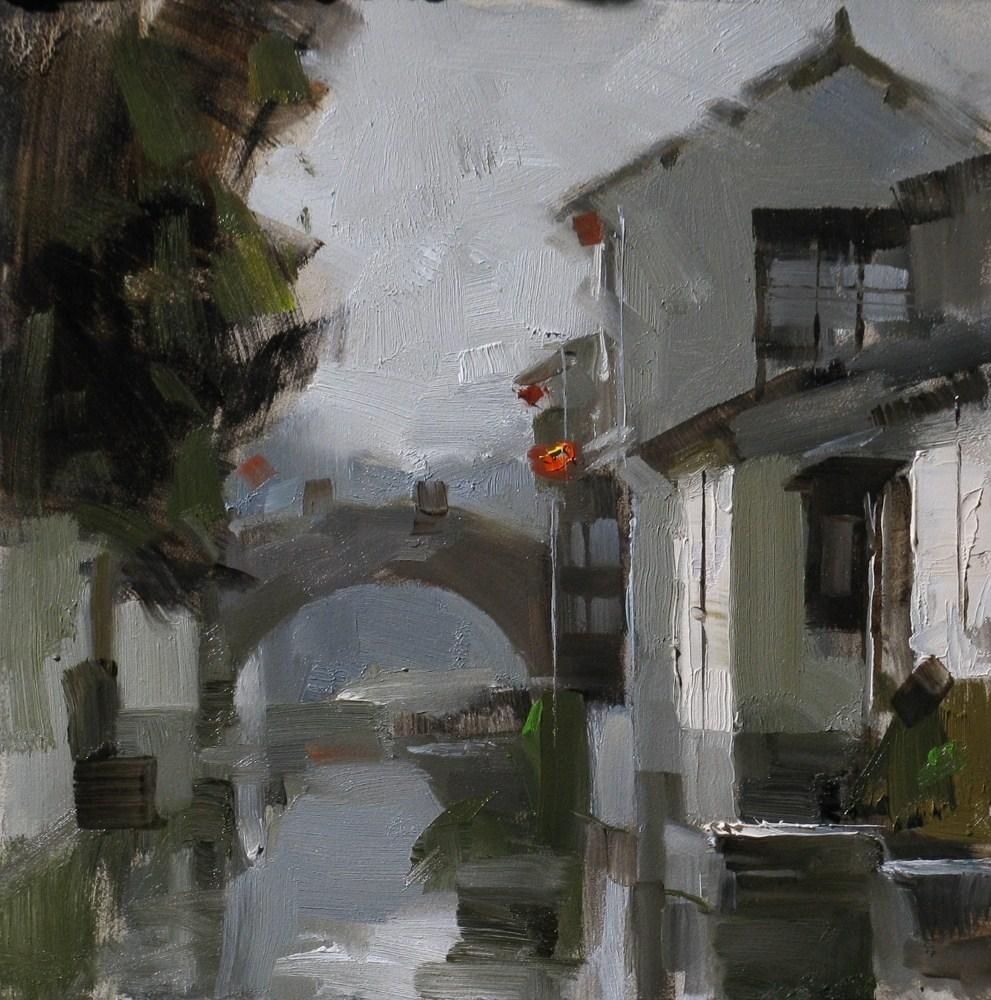 """""""Zhouzhuang Impression"""" original fine art by Qiang Huang"""
