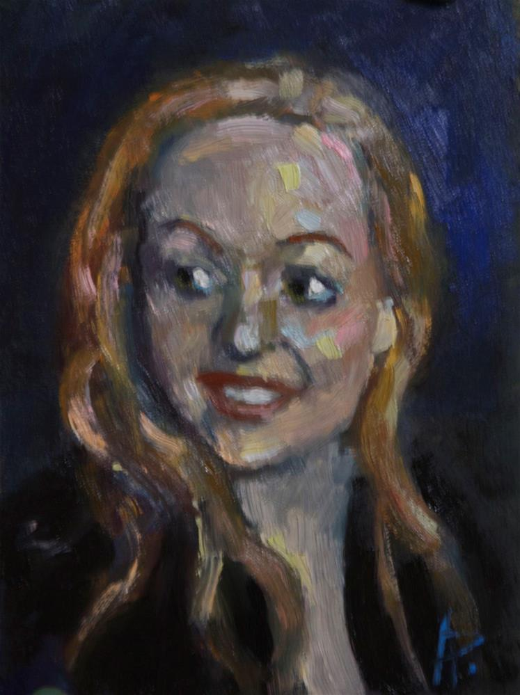 """'Michelle'"" original fine art by Andre Pallat"