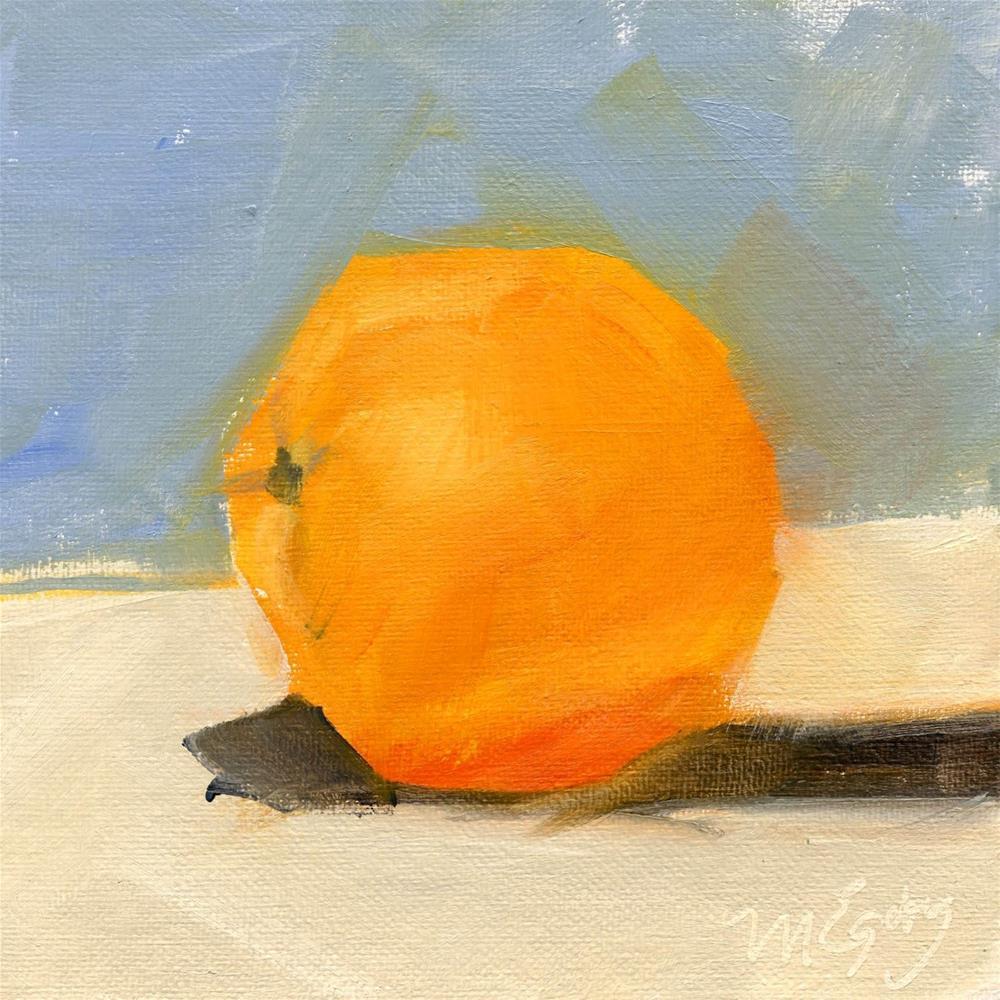 """Orange Study"" original fine art by Mitch Egeberg"