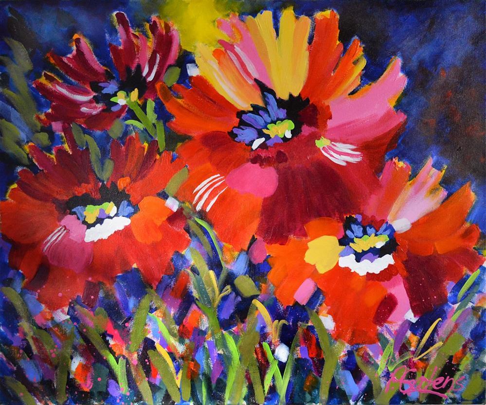 """""""Greenbrier Poppies"""" original fine art by Pamela Gatens"""