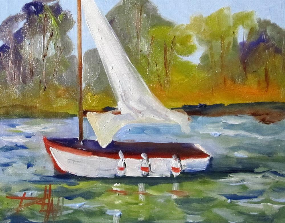 """Sailboat No. 17"" original fine art by Delilah Smith"