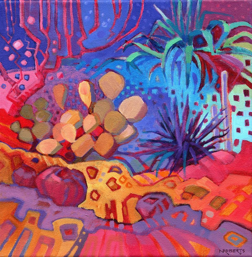 """Garden Spirit"" original fine art by Nancy Roberts"