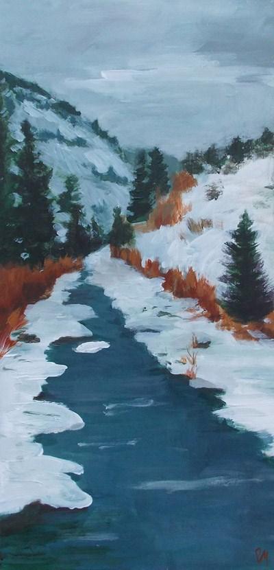 """""""Cold River"""" original fine art by Pamela Munger"""