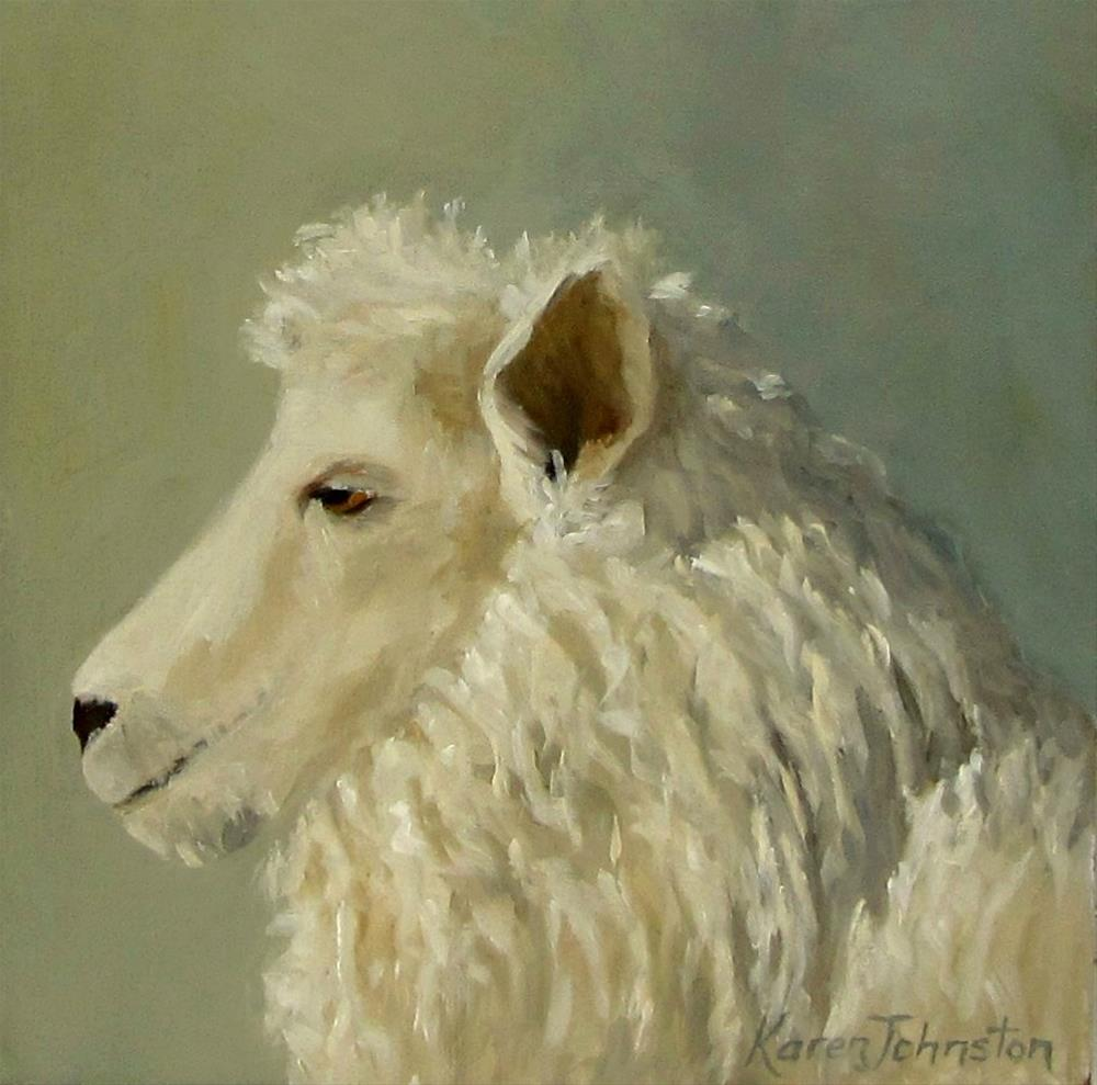 """'I Am Ewe'"" original fine art by Karen Johnston"