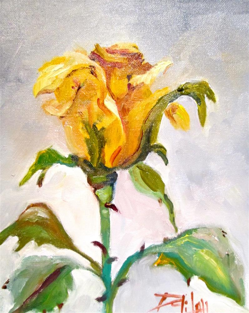 """Yellow Rose"" original fine art by Delilah Smith"