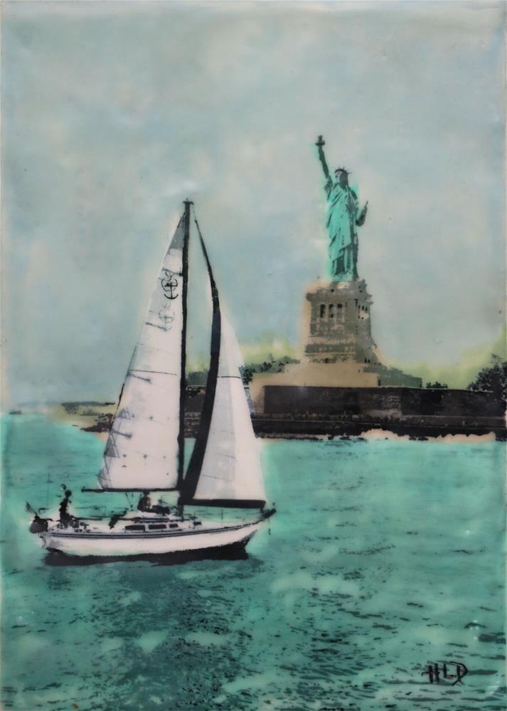 """In The Harbor"" original fine art by Heather Douglas"