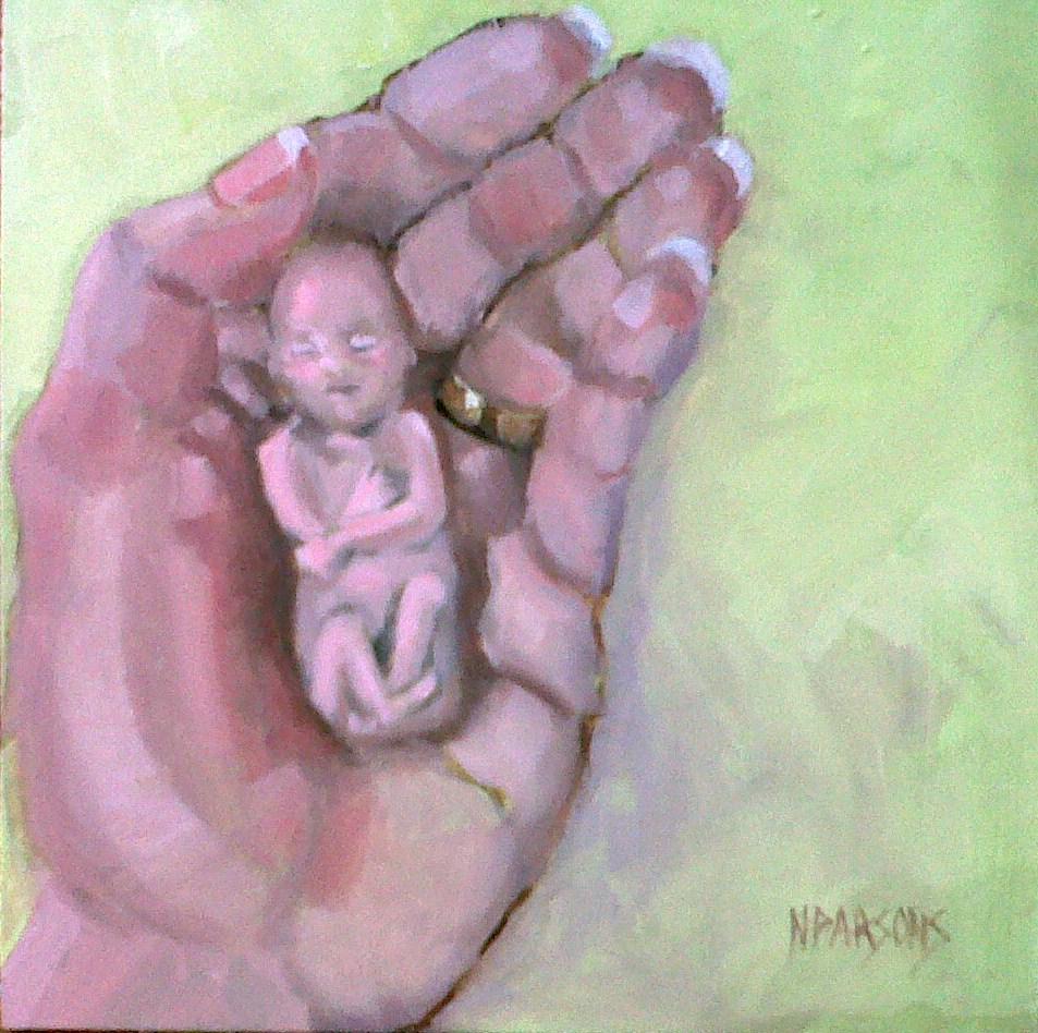 """Mini Munchkin"" original fine art by Nancy Parsons"