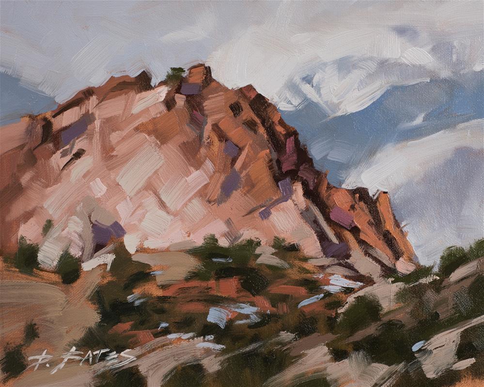"""Cathedral Rock in Winter"" original fine art by David Bates"