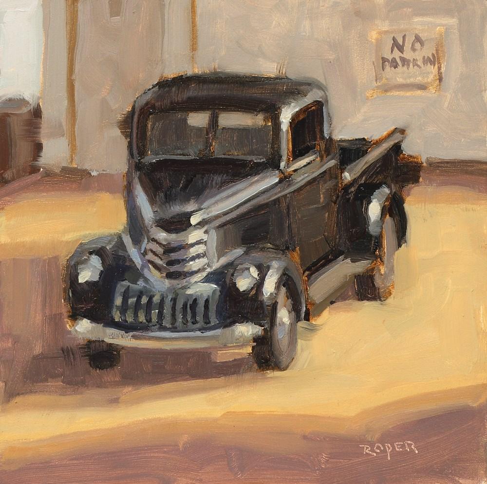 """No Parking!  "" original fine art by Stuart Roper"