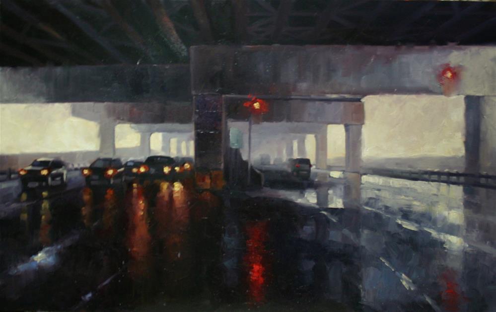 """""""Under the Gardiner, Toronto"""" original fine art by Catherine Jeffrey"""
