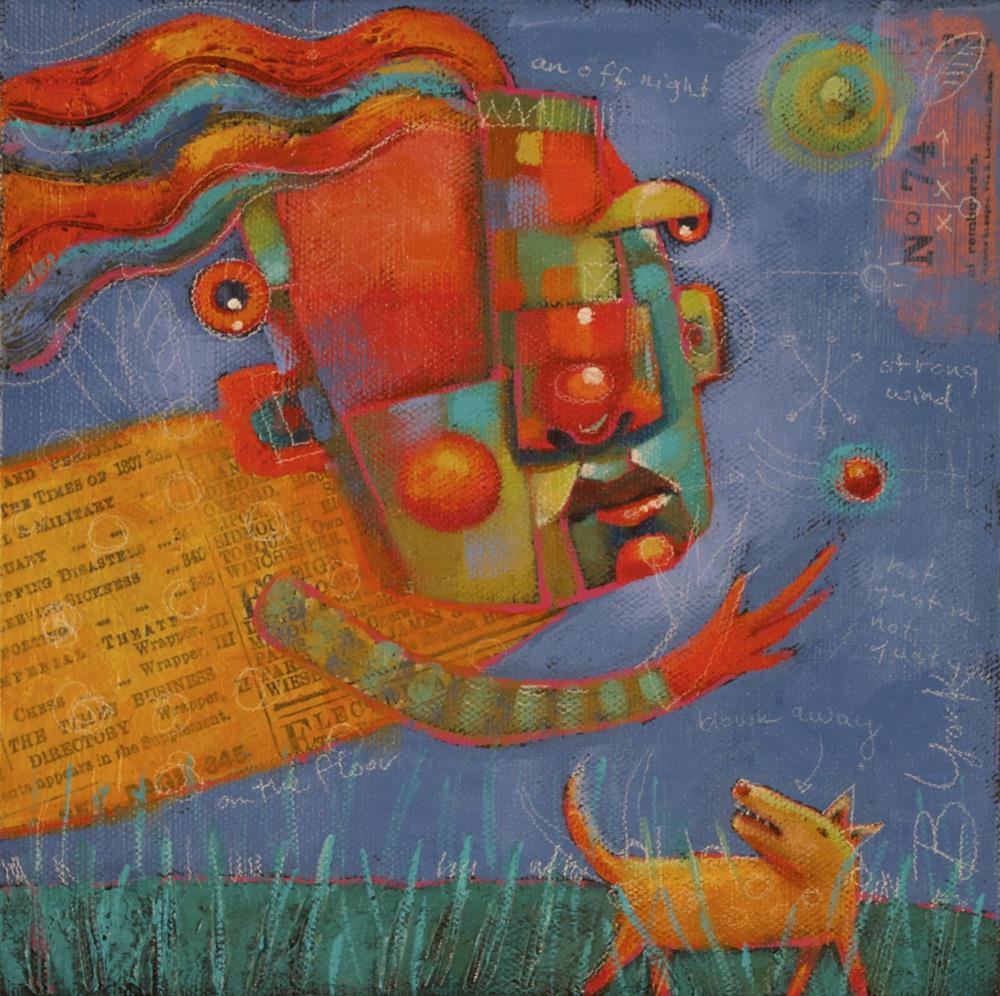 """Cat Lady"" original fine art by Brenda York"