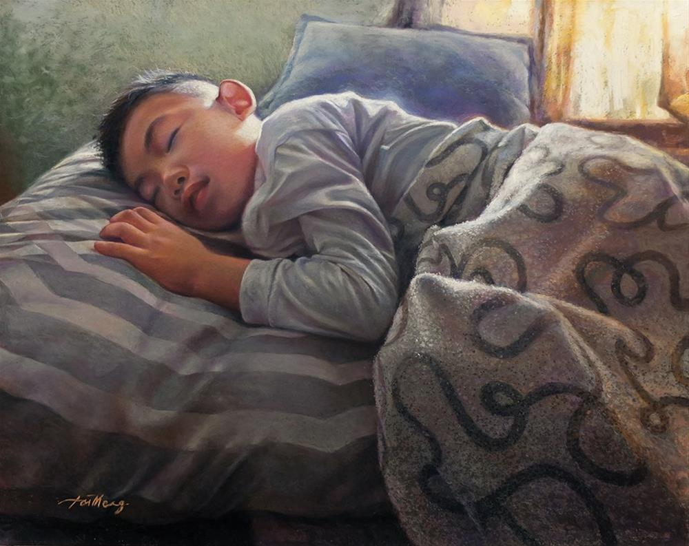 """Catching A Dream"" original fine art by TaiMeng Lim"