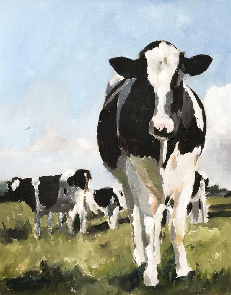 """""""Cows"""" original fine art by James Coates"""