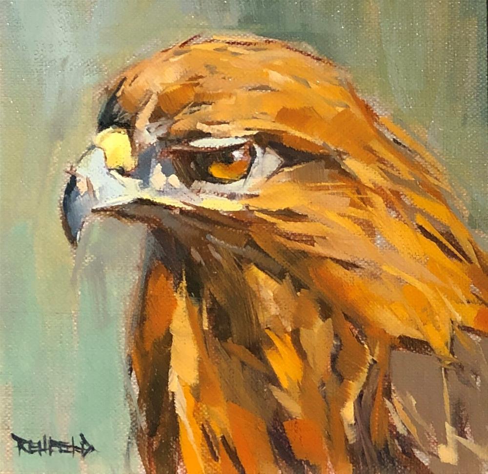 """Watching You"" original fine art by Cathleen Rehfeld"