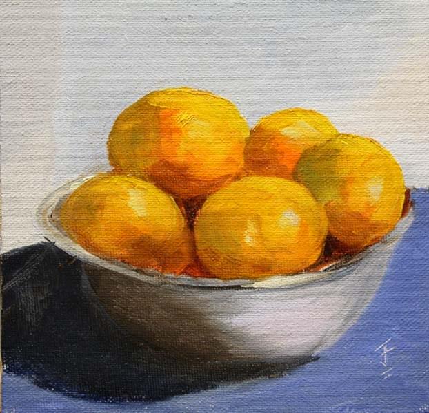 """Bowlful"" original fine art by Jane Frederick"
