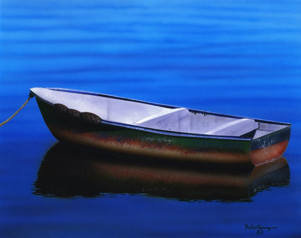 """Boat of Many Colors"" original fine art by Fred Schollmeyer"