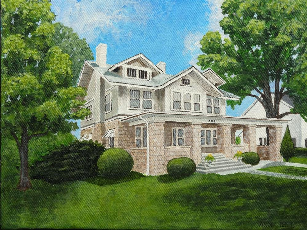 """Our House 2"" original fine art by Ande Hall"