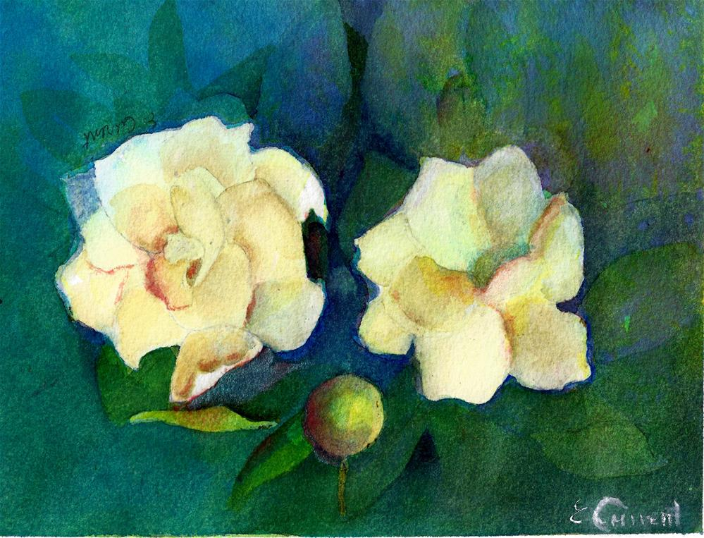 """GARDENIA"" original fine art by Elizabeth Current"