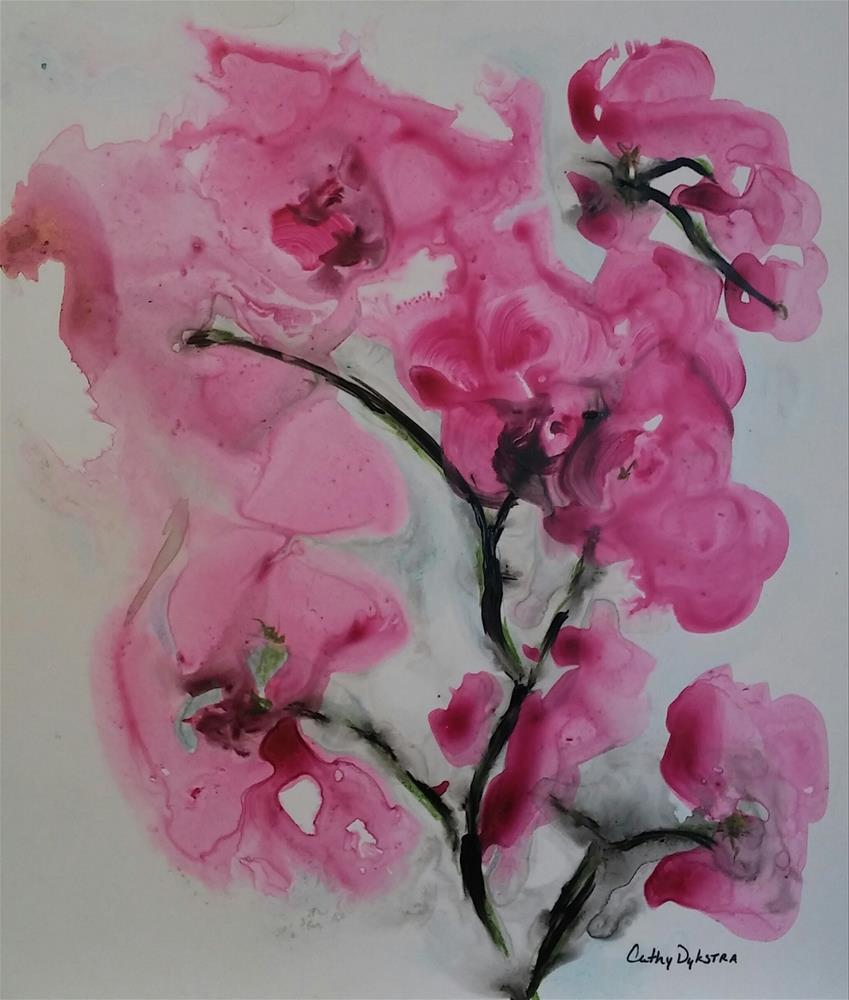 """""""Orchid Explosion"""" original fine art by Cathy Dykstra"""