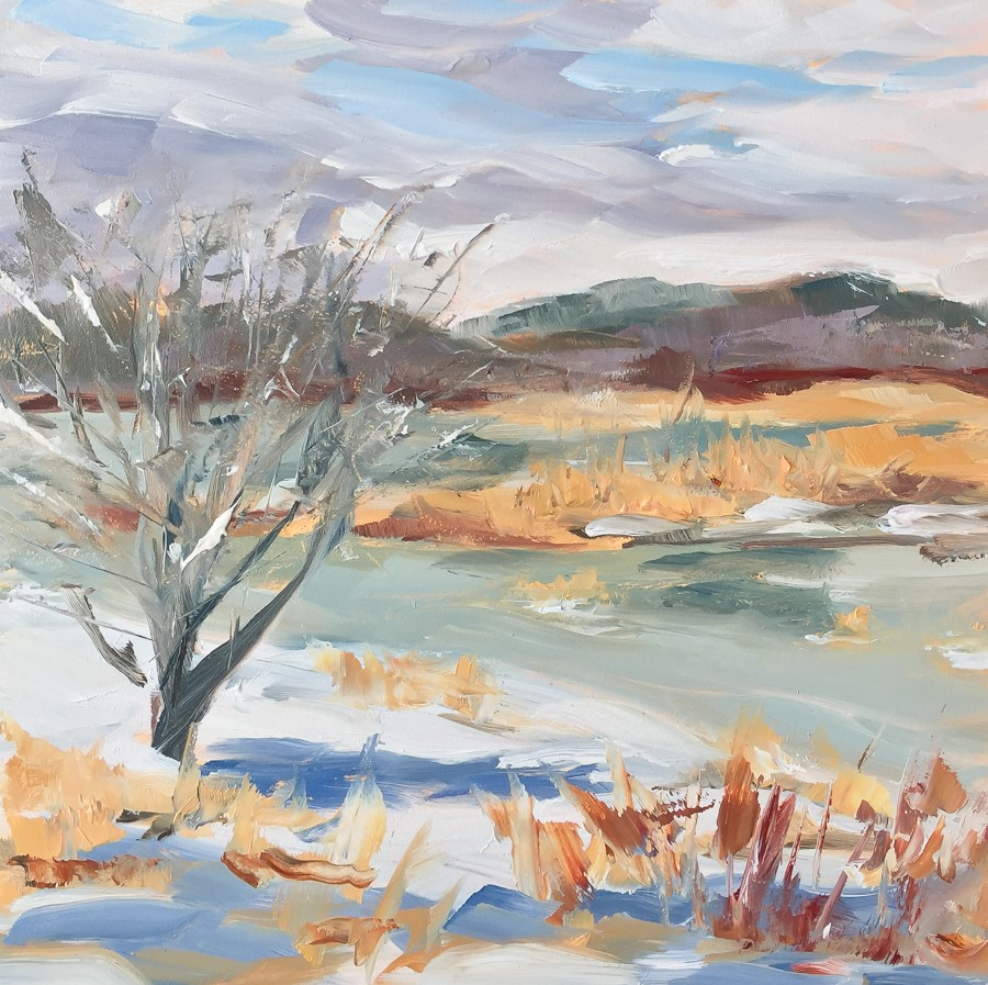 """#113 - Meadow Brook - New Gloucester, ME"" original fine art by Sara Gray"