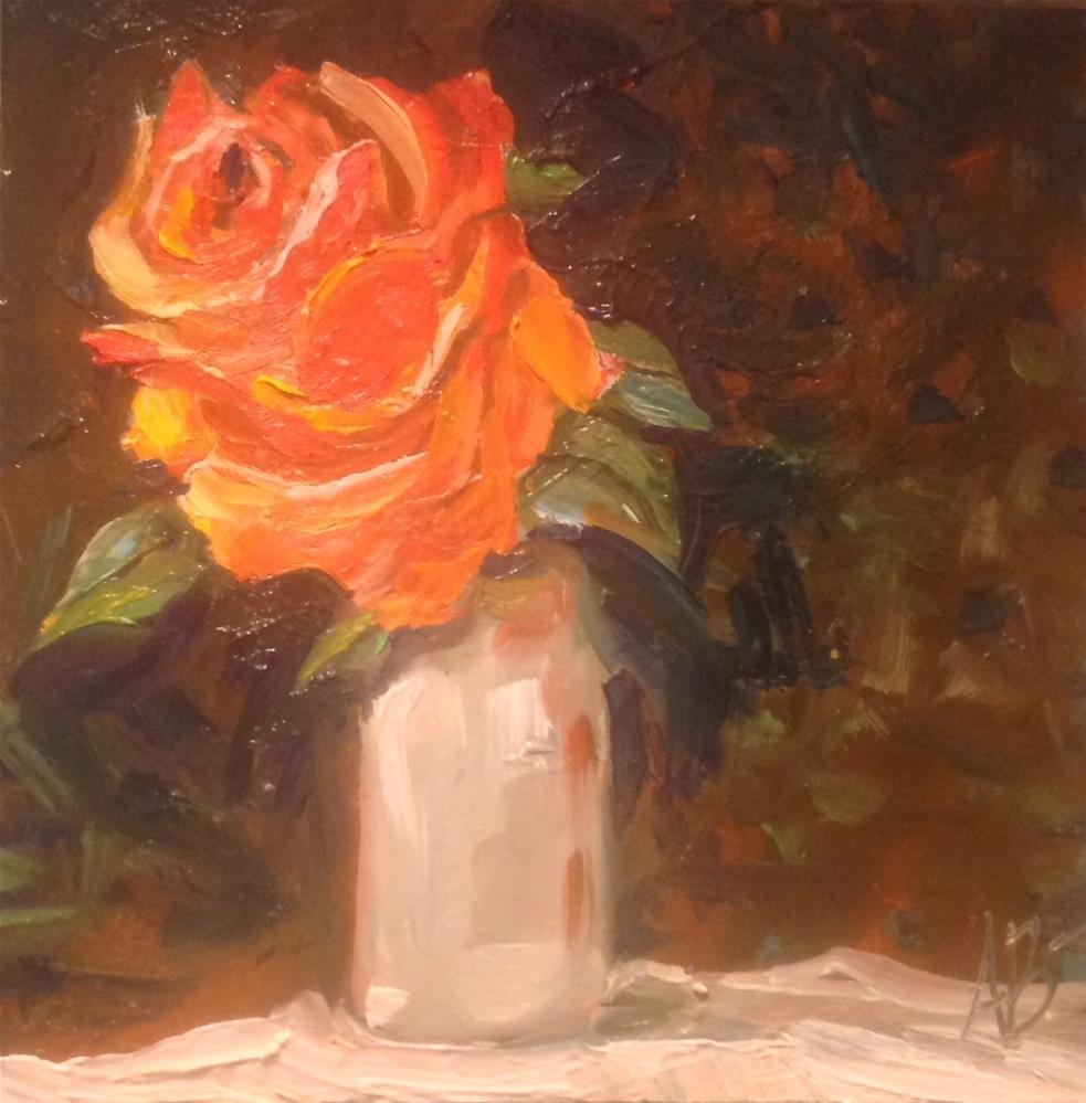 """Rose on the Cabin's Table"" original fine art by Annette Balesteri"