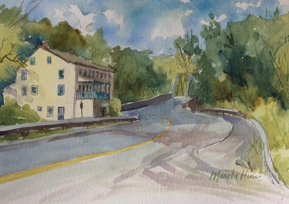 """Rock Hill Tavern (Millersville PA)"" original fine art by Marita Hines"