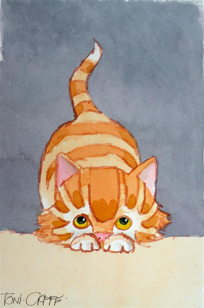 """Pounce"" original fine art by Toni Goffe"
