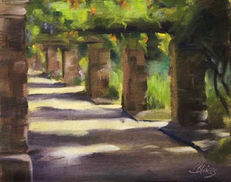 """""""Garden Path Plein Air"""" original fine art by Pamela Blaies"""