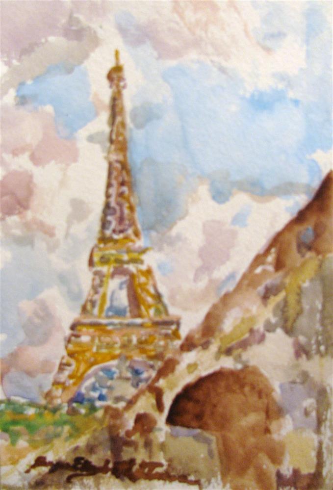 """Paris in my Mind"" original fine art by Susan Elizabeth Jones"