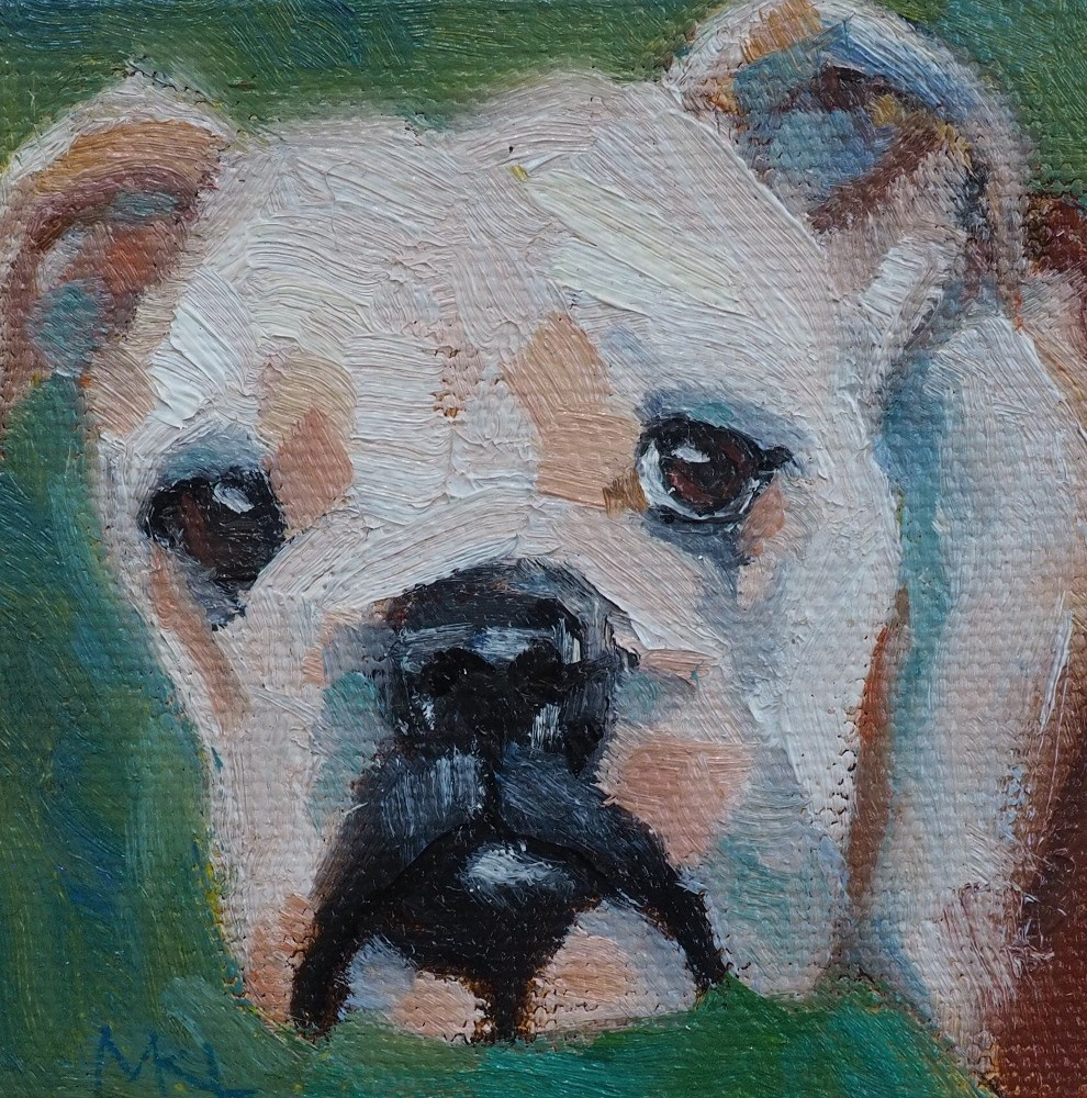 """In Memory of Dozer"" original fine art by Marlene Lee"