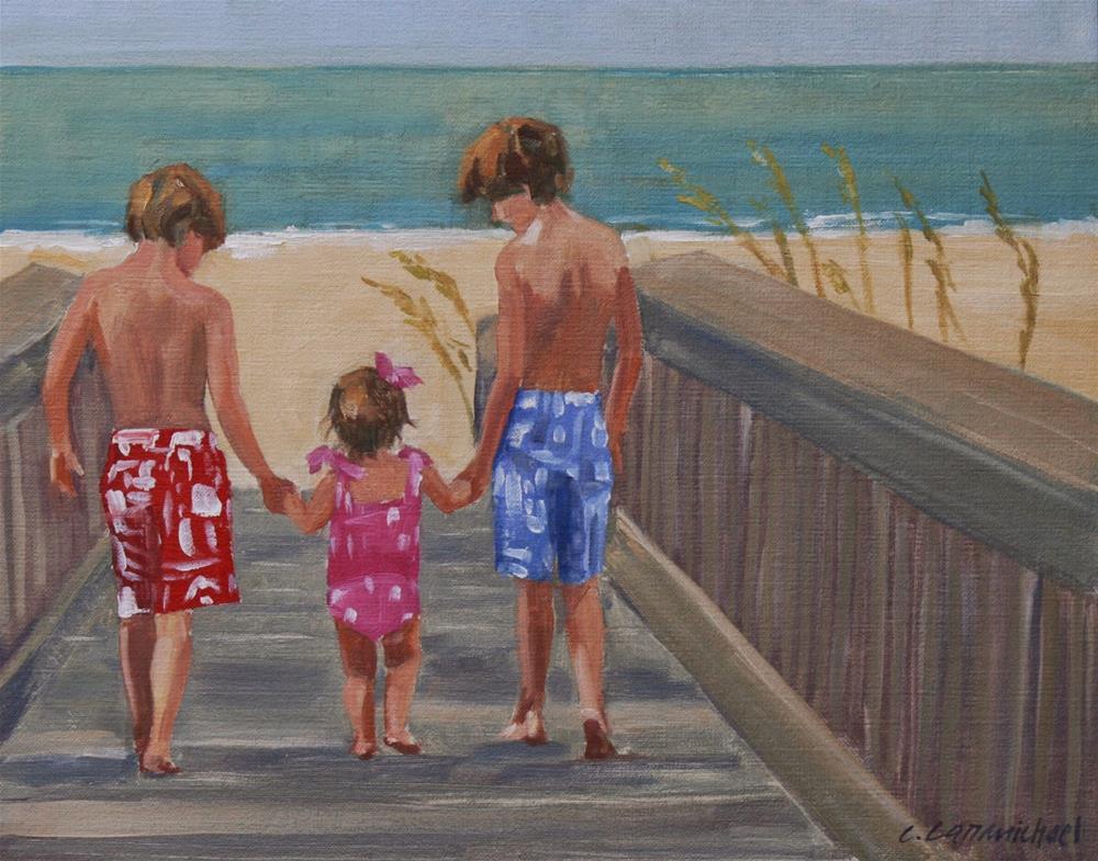 """hocutts"" original fine art by Carol Carmichael"