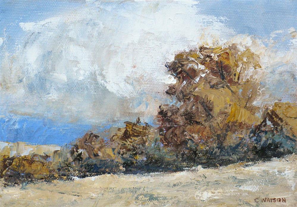 """Late Fall"" original fine art by carolyn watson"
