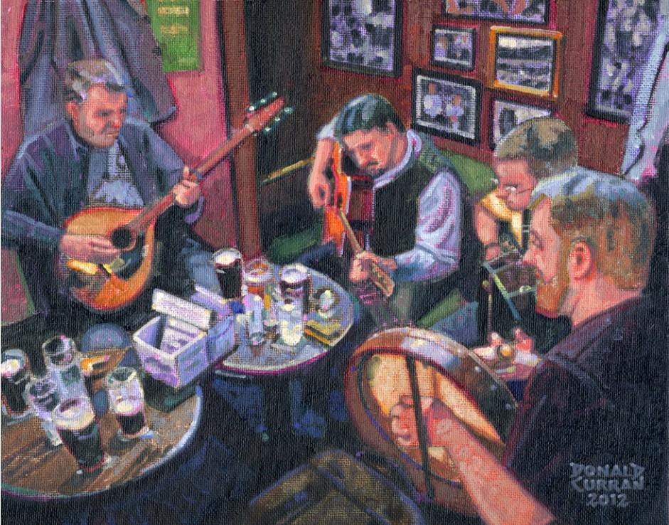 """Irish Pub Music"" original fine art by Donald Curran"