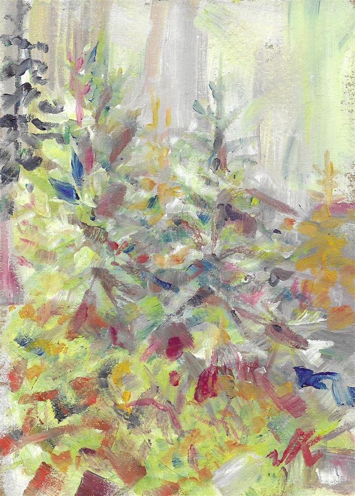 """""""Forest Mid-Morning"""" original fine art by Jean Krueger"""