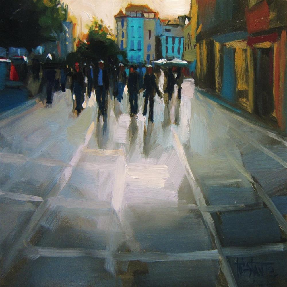 """Plaza Nueva"" original fine art by Víctor Tristante"