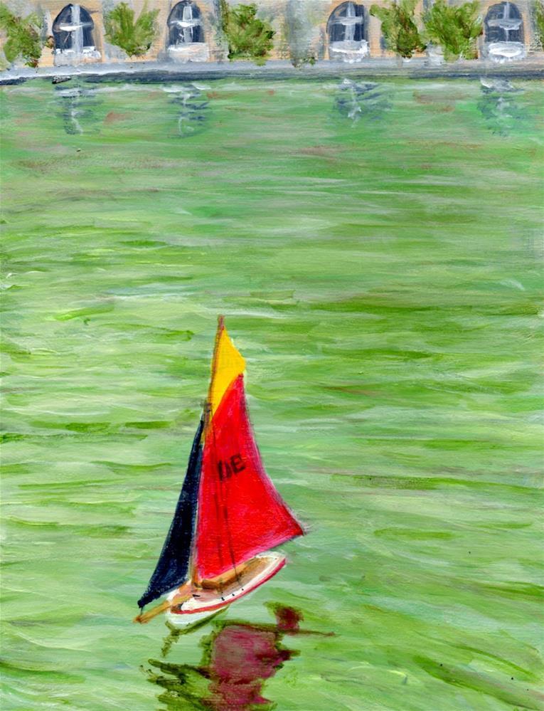 """""""Sailing to Far Off Lands, Paris No. 51"""" original fine art by Judith Elder"""