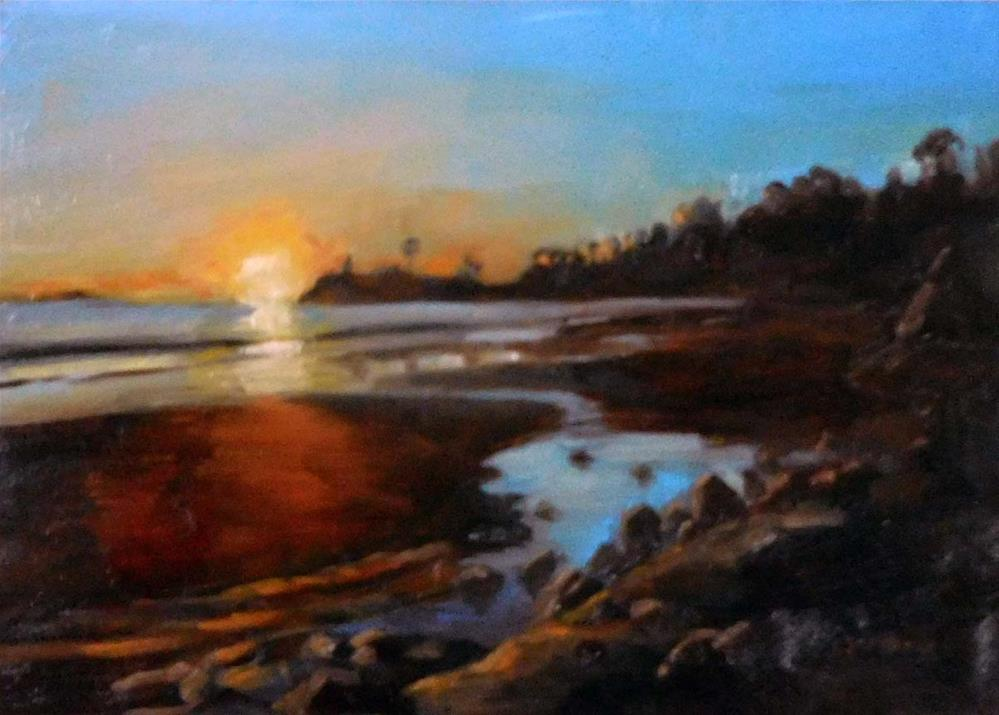 """Shelter Cove Sundown"" original fine art by Cietha Wilson"