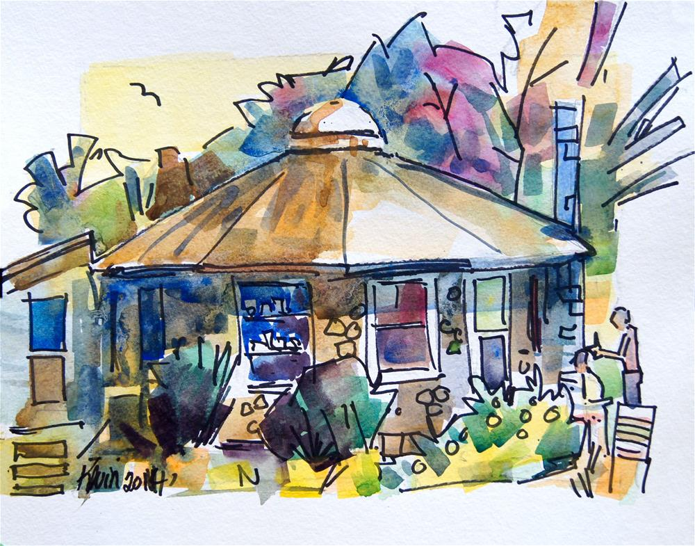 """""""The Country Round House"""" original fine art by Kevin Larson"""