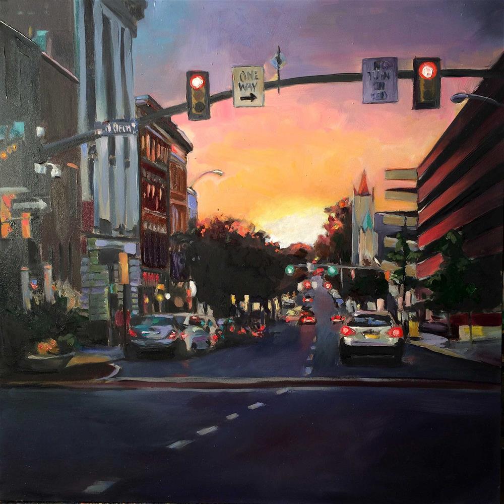 """orange sunset"" original fine art by Kim Smith"