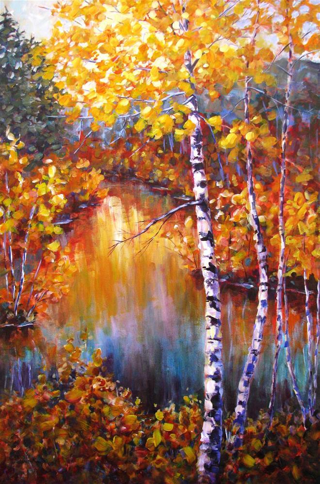 """""""Colors Along the River"""" original fine art by Melissa Gannon"""