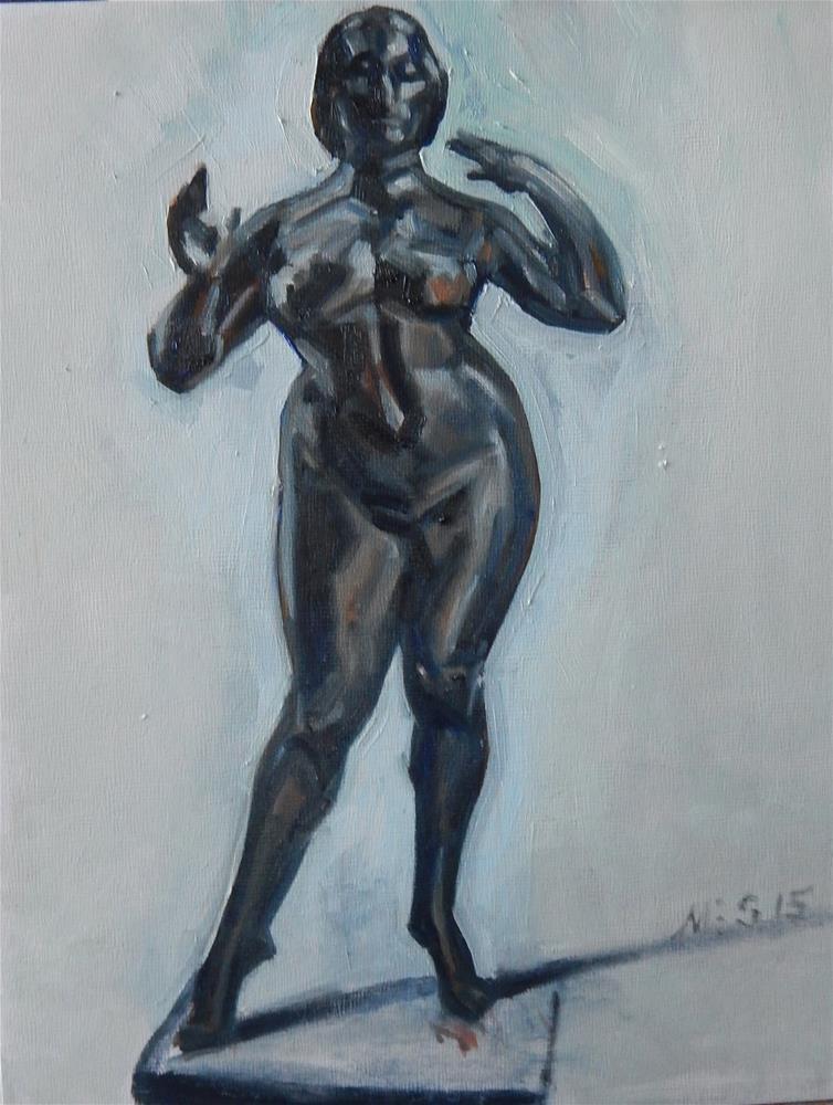 """Bronze Nude"" original fine art by Megan Schembre"